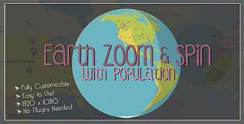 افترافکت Earth Zoom and Spin