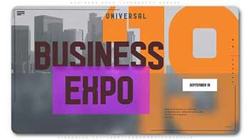 Business Expo Typography