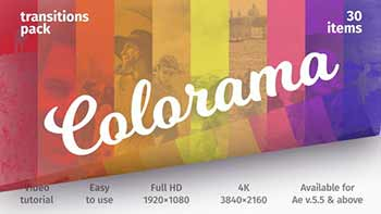 Colorful Transitions Transitions Pack
