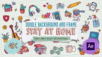 Doodle Background and Frame-27871985