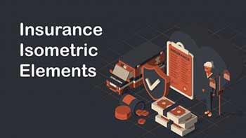 Insurance Isometric Elements-764172