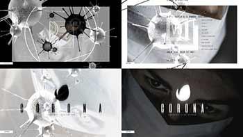 Abstract Covid-19 Logo-26379077