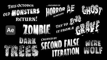 Monsters Retro Horror Titles-29012308