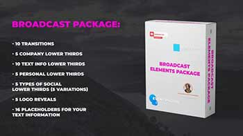 Broadcast Elements Package-23821553
