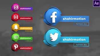 Social Media 3D Lowerthirds-30947077
