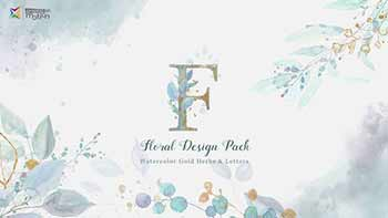Floral Watercolor Design Pack-27021174