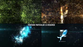 Glowing Particles Logo-30746447