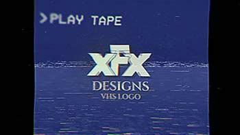 Damaged VHS Tape Logo Intro-31404464