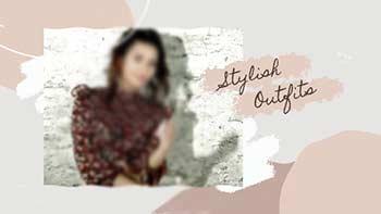 Fashion Slideshow In Brush Stroke-33320311
