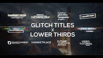 Glitch Titles X Lower Thirds Pack-33319932