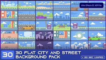 30 Flat City and Street Background-33314291