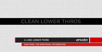 Clean Lower Thirds and Titles-231558