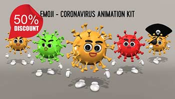 Emoji Coronavirus Animation Kit-26635531