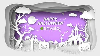 Paper Cut Halloween Wishes-34291649