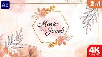 Watercolor Wedding Invitation-34305109