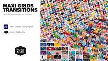 Maxi Grid Transitions Video Wall 4K-34296898
