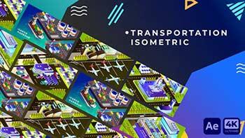 Transportation Isometric Animation-34349242