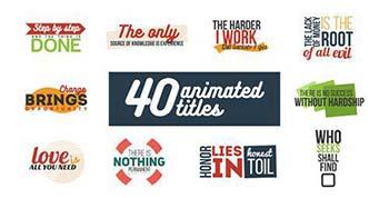 پروژه افترافکت Animated Titles-16280679