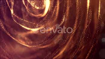 Golden Background Of Particles