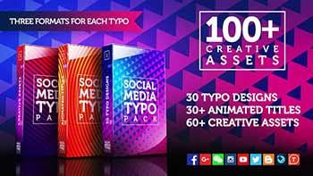 100 Social Media Typo Pack